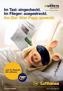 Lufthansa-Ad-MissPiggy&Kermit-FrankfurterAllgemeine-(2014)