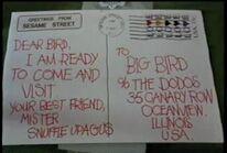 Love stamp giant postcard