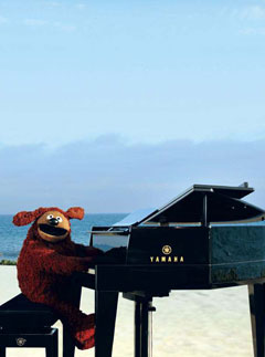 Rowlf piano beach