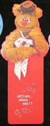 Hallmark 1980 fozzie bookmark