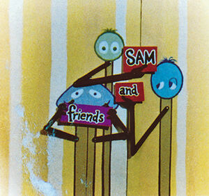 Sam and Friends title animated in color
