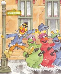 Bert singing in the rain