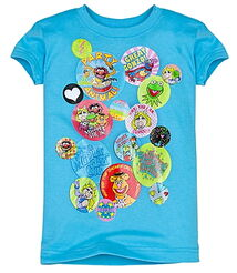 Junk food disney store 2011 shirt button muppets