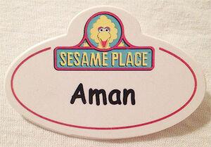Sesameplace emplyee nametag