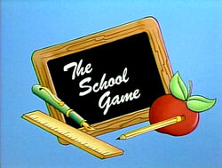 The School Game title card