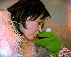 Kissing Roseanne Barr