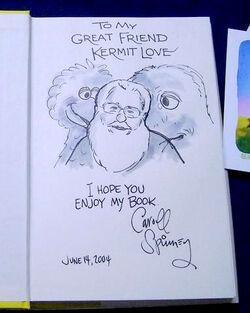 Kermit Love Caroll Spinney drawing