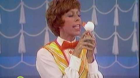 Sesame Street Carol Burnett Kisses Rubber Duckie