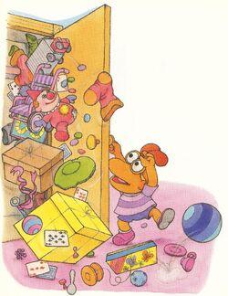 The very messy closet