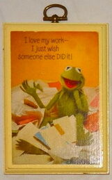 Hallmark 1981 kermit plaque wish