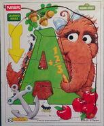 Playskool 1994 frame-tray puzzle alice snuffleupagus