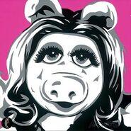 Miss Piggy Allison Lefcort 14x14