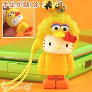 Strapya 2011 mascot hello kitty plastic small big bird japan