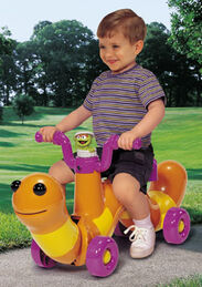 Processed plastic company pp scoot along slimey rider ride-on toy 3