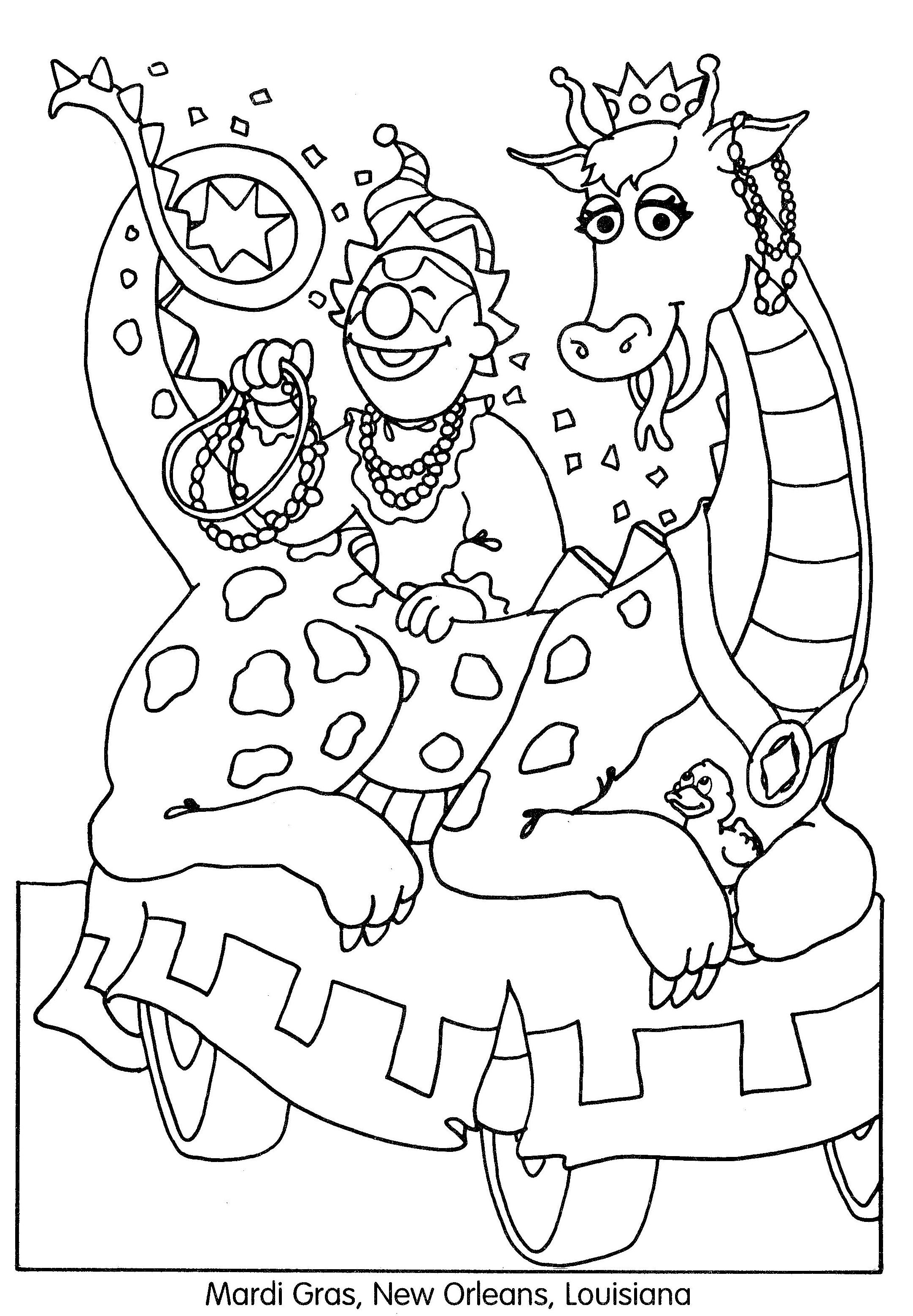 Parade coloring pages to print for adults - Happy