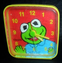 Casio 1988 baby kermit alarm clock