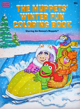Muppets winter fun coloring book