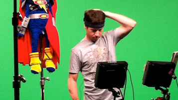 Eric Jacobson Super Grover Green Screen