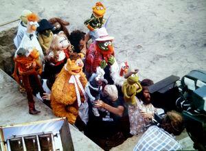 Muppet movie filming