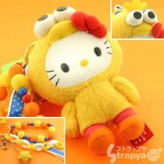 Strapya 2011 mascot hello kitty plush big bird japan