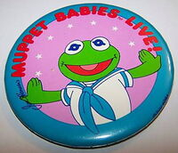Muppet babies live 1986 button kermit