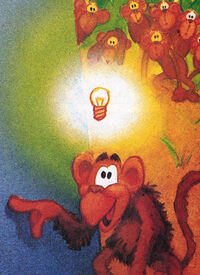 Annual ape light bulb