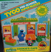 Tyco 1991 super blocks cookie's cafe building set 1