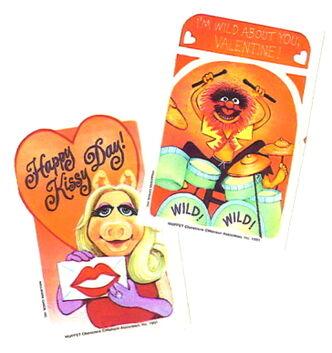 Hallmark 1981 valentines stickers