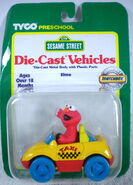 Tyco matchbox 1996 die-cast car elmo taxicab