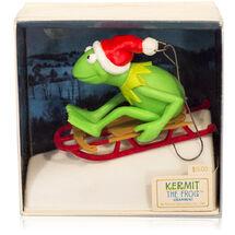 Hallmark 1981 kermit christmas ornament sled