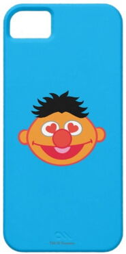 Zazzle ernie smiling face with heart shaped eyes
