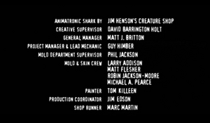 Blood and Wine Creature Shop credits