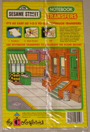 Colorforms 1988 notebook transfers 2