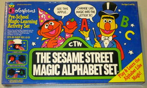 Colorforms 1988 sesame street magic alphabet set 1