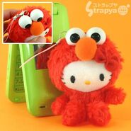 Strapya 2011 mascot hello kitty plush elmo small japan