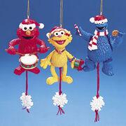 Kurt Adler Sesame Street pull puppets