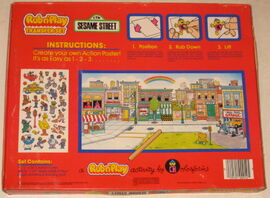 Colorforms 1986 rub n' play transfer set 2