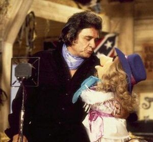 Johnny cash and miss piggy