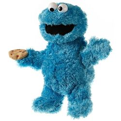 Living puppets cookie monster hand puppet 33-37cm