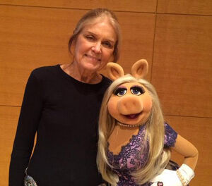 Gloria Steinem and Miss Piggy