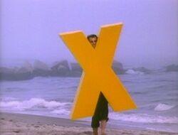 X-on-beach