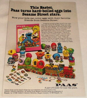 Paas sesame street easter egg kit 1981