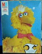 Milton bradley 1977 big bird bowtie puzzle
