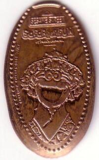 Busch gardens 2012ish pressed pennies cookie