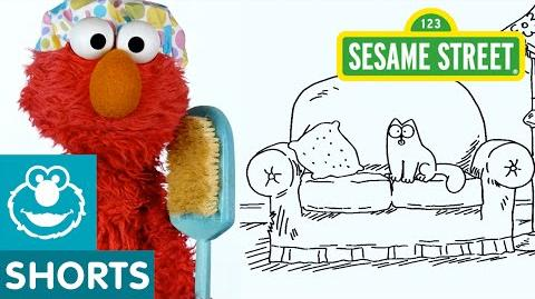 Sesame Street Simon's Cat and Elmo take a Nap!