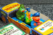 Child guidance muppet miniatures sesame pvc police car 3