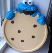 Cookie monster tambourine blue box toys 1