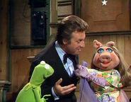 Alexander flirting with Miss Piggy