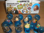 German 2013 chocolate eggs muppet mascot pvc set 1