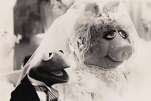 Kermit piggy wedding